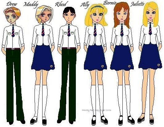 The guys in school uniform
